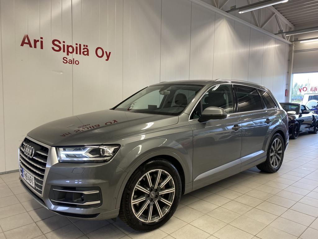 Audi Q7, VÄHÄN AJETTU Q7 HUIPPUVARUSTEILLA 4 PYÖRÄ OHJ. 7 HLÖ NAVI YM YM