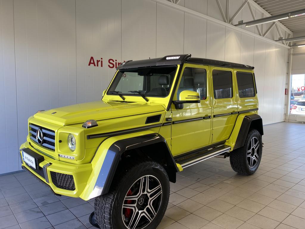 Mercedes-Benz G 500 4x4^2, G 500 4x4²  K-AUTO SIS.ALV(MODEL YEAR 2016) HARVINAISUUS AJETTU 24TKM ELECTRIC BEAM YELLOW DESIGNO LEATHER,  BLACK INDIVI