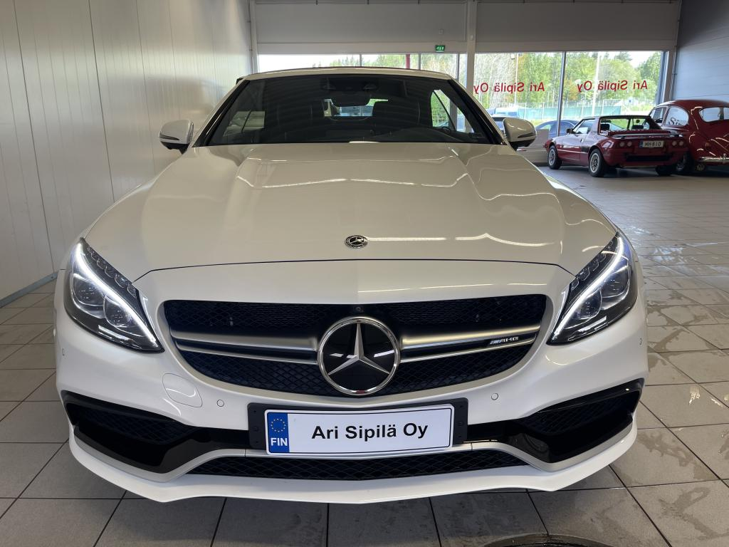 Mercedes-Benz AMG C 63 S, NYT HUIPPUVARUSTEILLA 510HV (DISTRONIC PLUS) DRIVING PACKAGE AIRSCARF LEATHER/NAPPA/SEMI-ANILINE - RED (SUOMI AUTO)