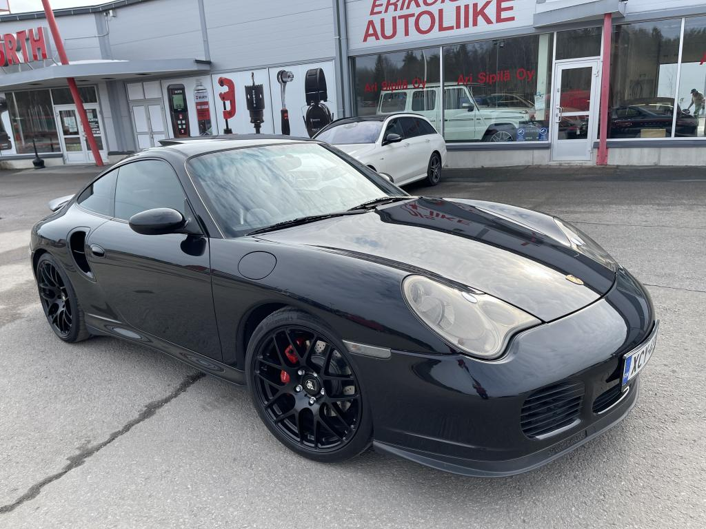 Porsche Porsche 911 Coupe Turbo 3.6 Tiptronic, Coupé  3600cm3 Automaatti huippuvarusteilla (met musta)