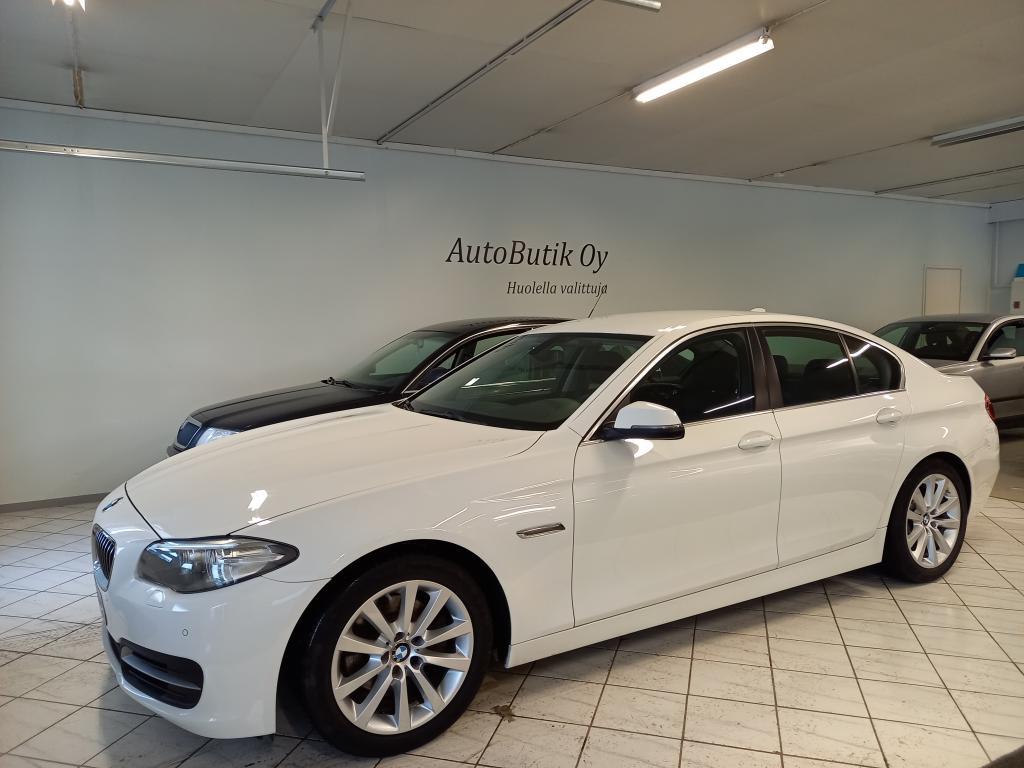 BMW 520d F10 SEDAN 190 HV AUTOMATIC BUSINESS SUORAAN ENSIOMISTAJALTA! TÄYDELLINEN HUOLTOKIRJA! SPORT ALUSTA KIINTEÄKORKO 1.99%