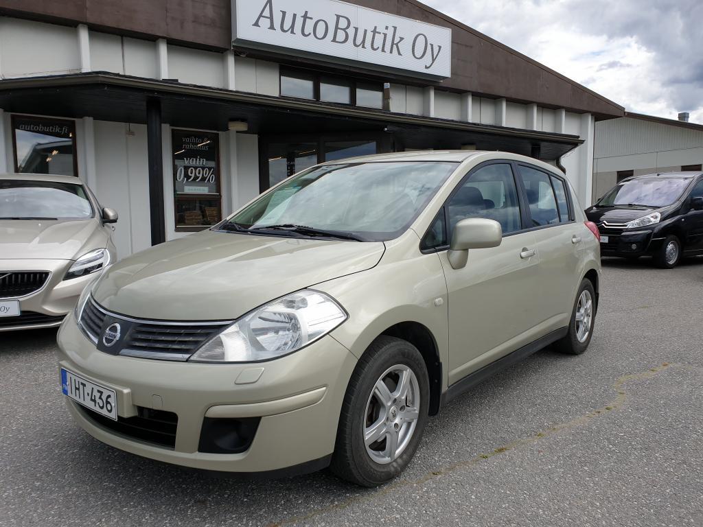 Nissan Tiida 1.6i TEHOKAS 110 HV 5-ov  TILA-AUTO RAHOITUS VAIN 0, 99% JUURI KATSASTETTU!
