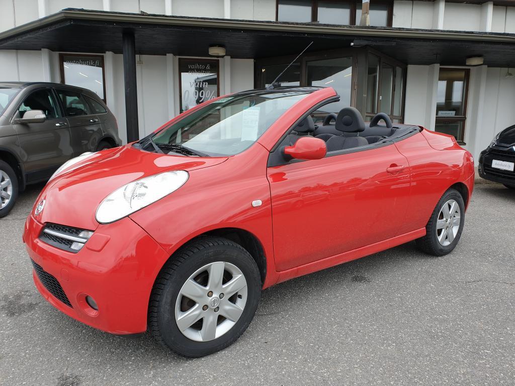 Nissan MICRA 2D 1,4 C+C AVOAUTO/KOVAKATTO 1.4 88 HV HAUSKAN NÄKÖINEN JA HARVINAINEN MALLI SÄHKÖKATOLLA RAHOITUS 0, 99%