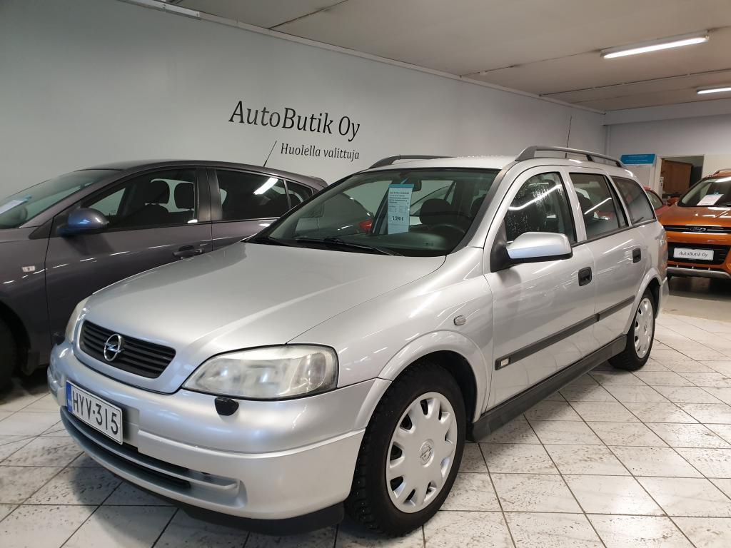Opel ASTRA-G-CARAVAN 1.6i 16V 100 HV COMFORT CARAVAN JAKOHIHNA VAIHDETTU 291 TKM. PUKKURUOKAINEN JA HYVÄKORINEN