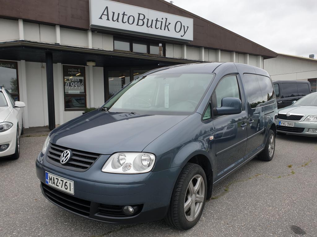 Volkswagen Caddy MAXI Comfort 1.9 TDI TOSI TILAVA ISTUIMET KOLMESSA RIVISSÄ 7-HENKILÖLLE AUTOMAATTI WEBASTO YKSI OM.