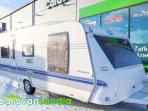 Caravanlandia: Hobby 570 VIP Collection ** SAAREKEVUODE,  SÄHKÖPATRUUNA,  LATTIALÄMMITYS **