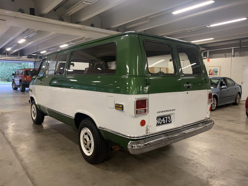 Chevrolet Chevy Van, Museokatsastettu! Hieno  Beauville Sportvan 30.Suomi auto.Penkit 8:lle.