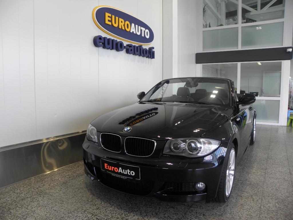 BMW 120 dA E88 Cabrio M-Sport,  SUPER HIENO JA AJETTU VAIN 8200KM,  NAHAT,  18 TUUMAN ALUT. USB,  CRUISE,  AUX,  ISOFIX,  KUIN UUSI