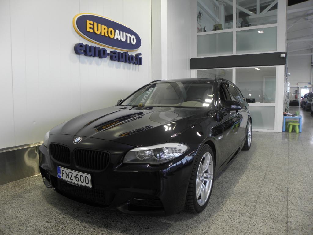 BMW M550d Sport A xDrive F11 Touring,  HUIPPU VARUSTEILLA,  WEBASTO,  HUD,  VETOKOUKKU,  NAVI,  19 TUUMAN ALUT. NAHAT,  M-SPORT,  CRUISE