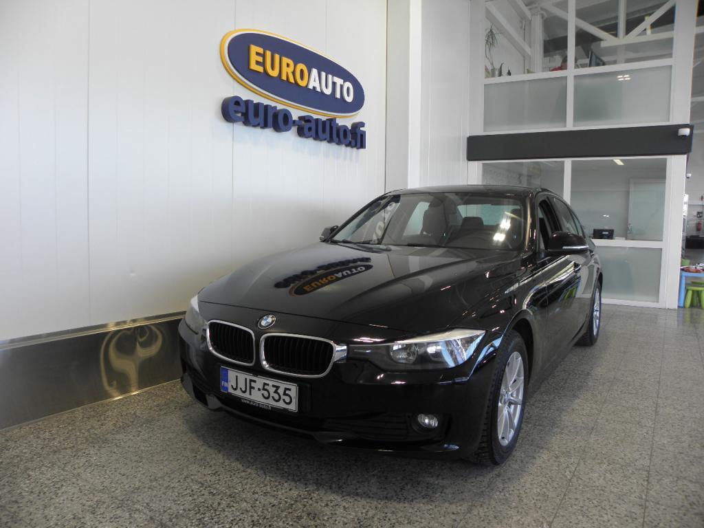 BMW 316 F30 Sedan 316d TwinPower Turbo Aut. SIISTI MUSTA BEMU,  VAIN 220?/KK,   18 TUUMAN ALUT. AUX,   KAHDET RENKAAT,  ISOFIX