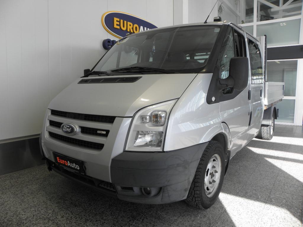 Ford Transit N1 Jatko-ohjaamo 6-hengen pakettiauto 350M 2, 2TDCi 110 SIS.ALV. ALUMIINILAVA 245X194,  KAHDET RENKAAT,  VETOKOUKKU,  AC,
