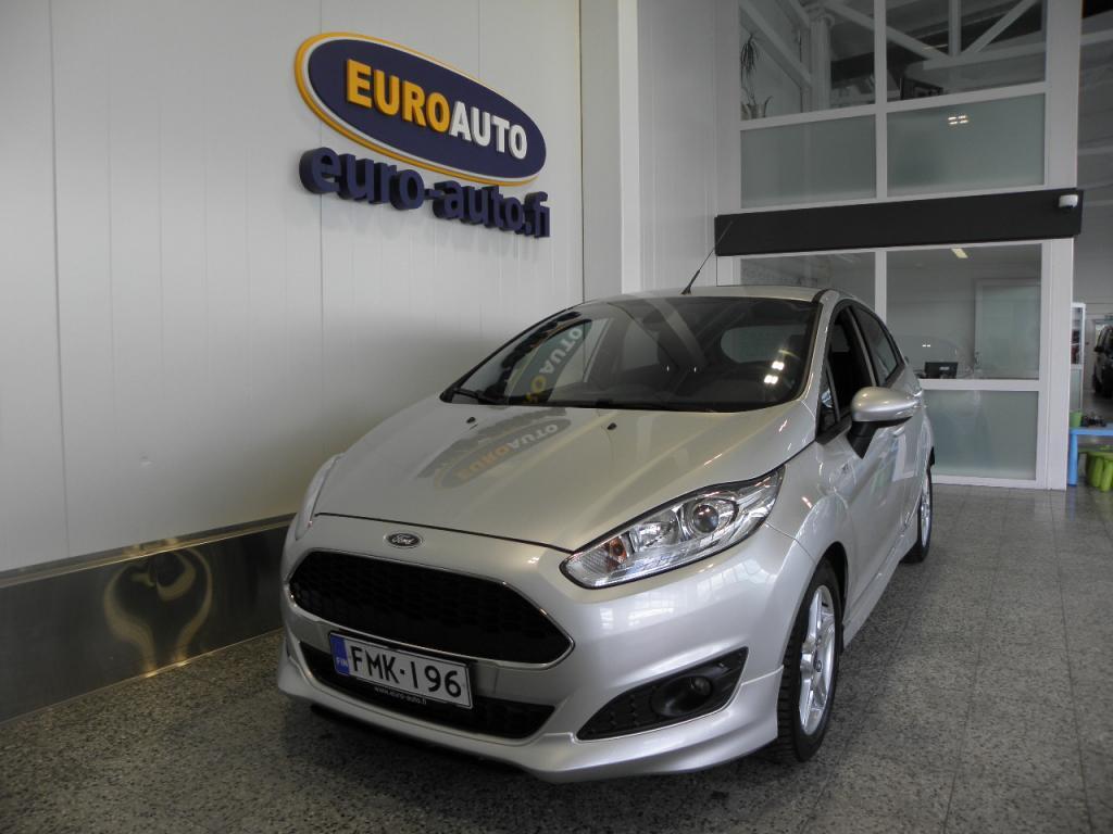 Ford Fiesta 1, 0 EcoBoost 100hv M5 upea ST-line 5-ovinen,  VAIN 199e/KK,  1.OMISTEINEN SUOMI AUTO,  TÄYDELLINEN MERKKIHUOLTOHISTORIA