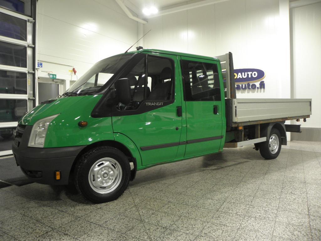 Ford Transit 355L EF Double Cab 2, 4TDCi 115 N2 K-A 6-hengen jatko-ohjaamo,  SIS.ALV. JUURI KATSASTETTU,  LAVA 325 X 213,  NAHKASISUSTA