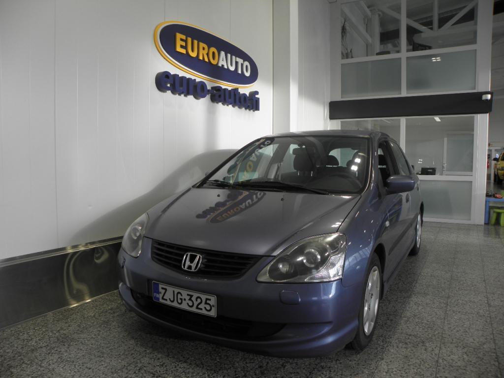 Honda Civic 1, 6i LS 5d,  ASIALLINEN VARMATOIMINEN JAPSKI,  ILMASTOINTI,  LOHKIS,  KAHDET RENKAAT,  HUOLTOKIRJA,