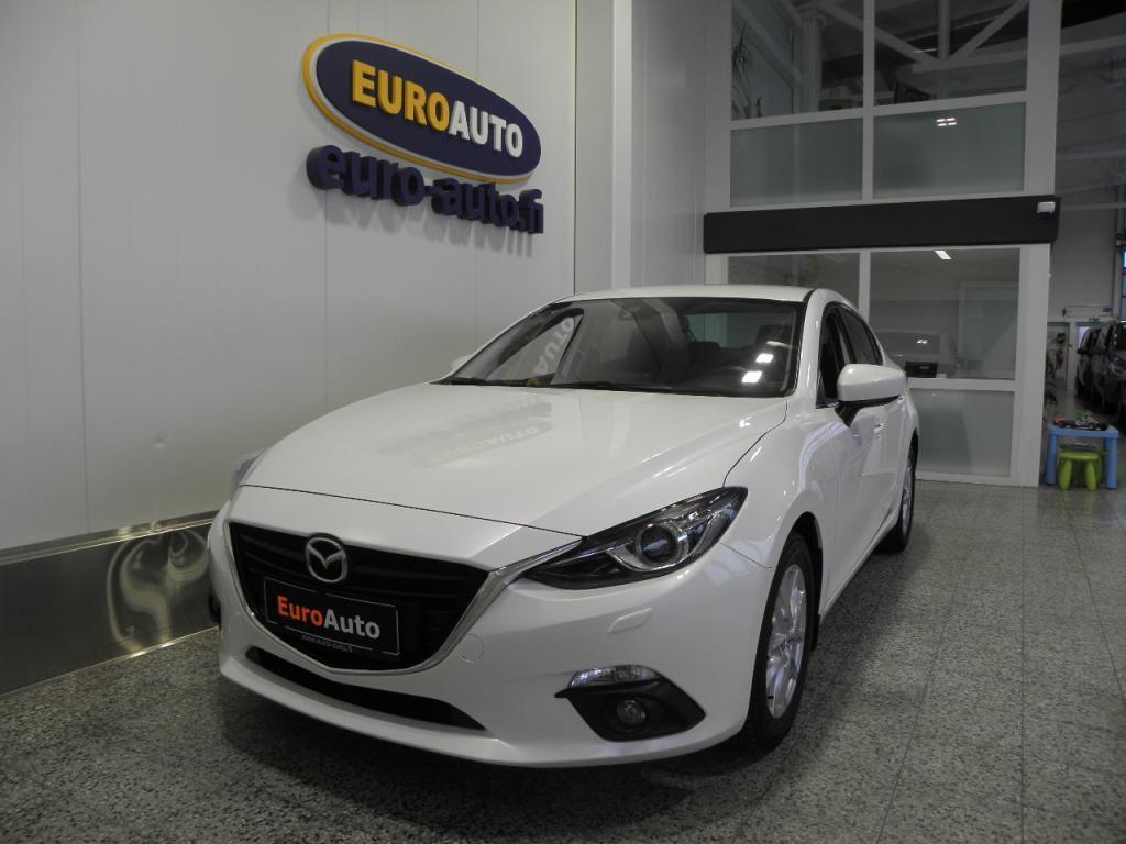 Mazda 3 Sedan 2, 0 (120) SKYACTIV Premium 6AT 4ov VÄHÄN AJETTU,  HELMIÄISVALKOINEN,  BLUETOOTH,  CRUISE,  ALUT. BLUETOOTH,  USB,  AUX