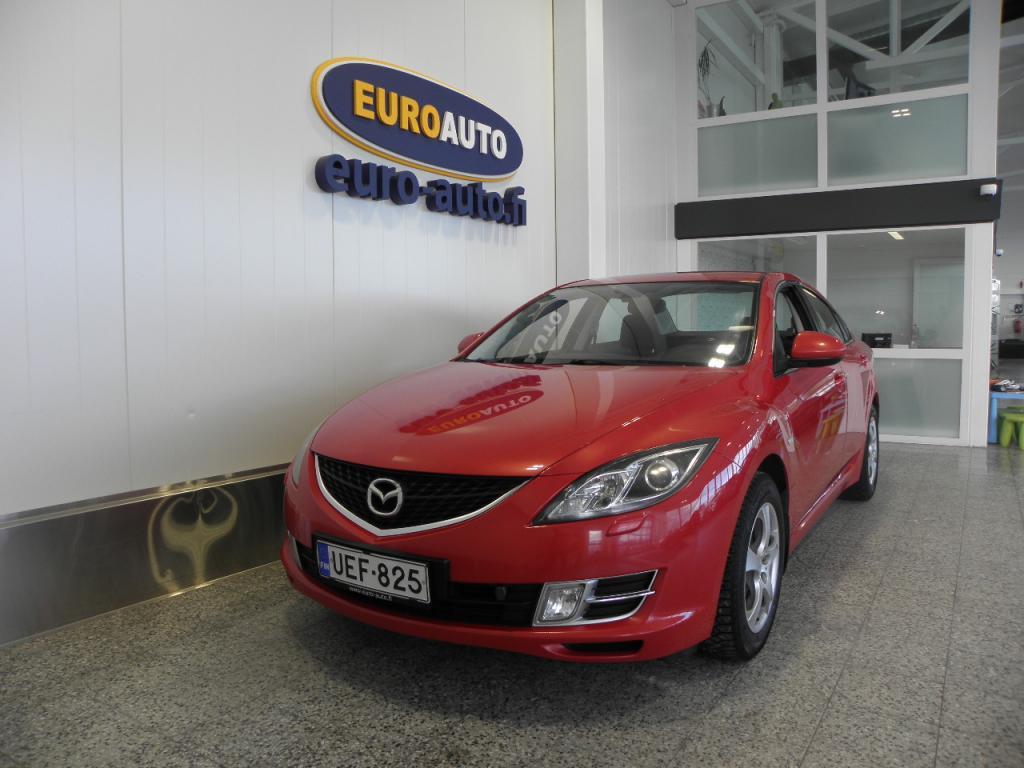 Mazda 6 Sedan 2, 0 Elegance 6MT 4ov SUOMI AUTO,  VAIN 165?/KK,  17 TUUMAN ALUT. VETOKOUKKU,  KAHDET RENKAAT,  LOHKIS,  CRUISE,  AUX