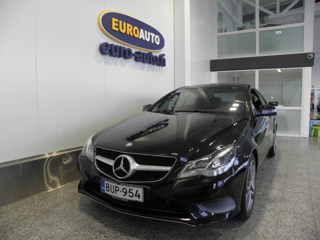 Mercedes-Benz E 220 CDI BE Coupé A,  SIISTI JA VÄHÄN AJETTU,  CRUISE,  BLUETOOTH,  KAHDET RENKAAT,  NAHAT,  LOHKIS,  TUMMENNUKSET,  ISOFIX