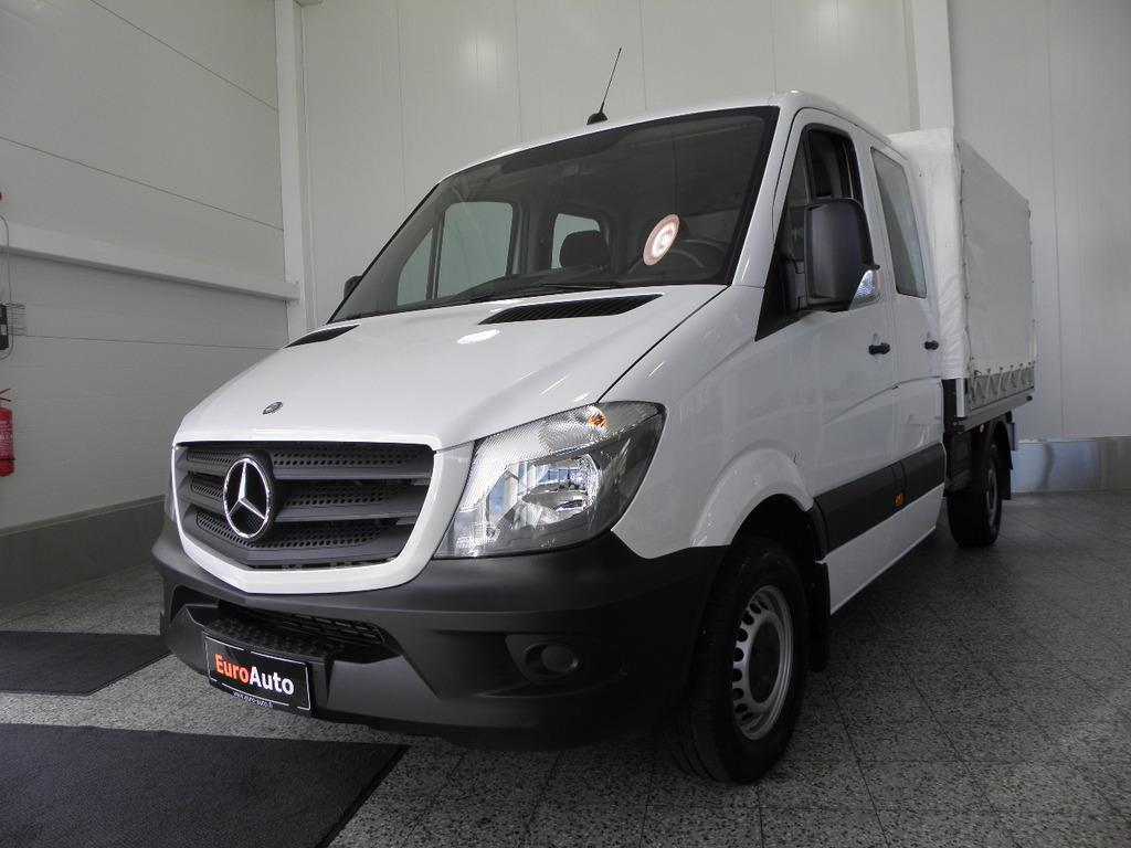 Mercedes-Benz Sprinter 313CDI K-A Pitkällä miehistöohjaamolla 7-hlö SIS. ALV. VÄHÄN AJETTU,  ILMASTOINTI,  WEBASTO,  LAVAPRESSU