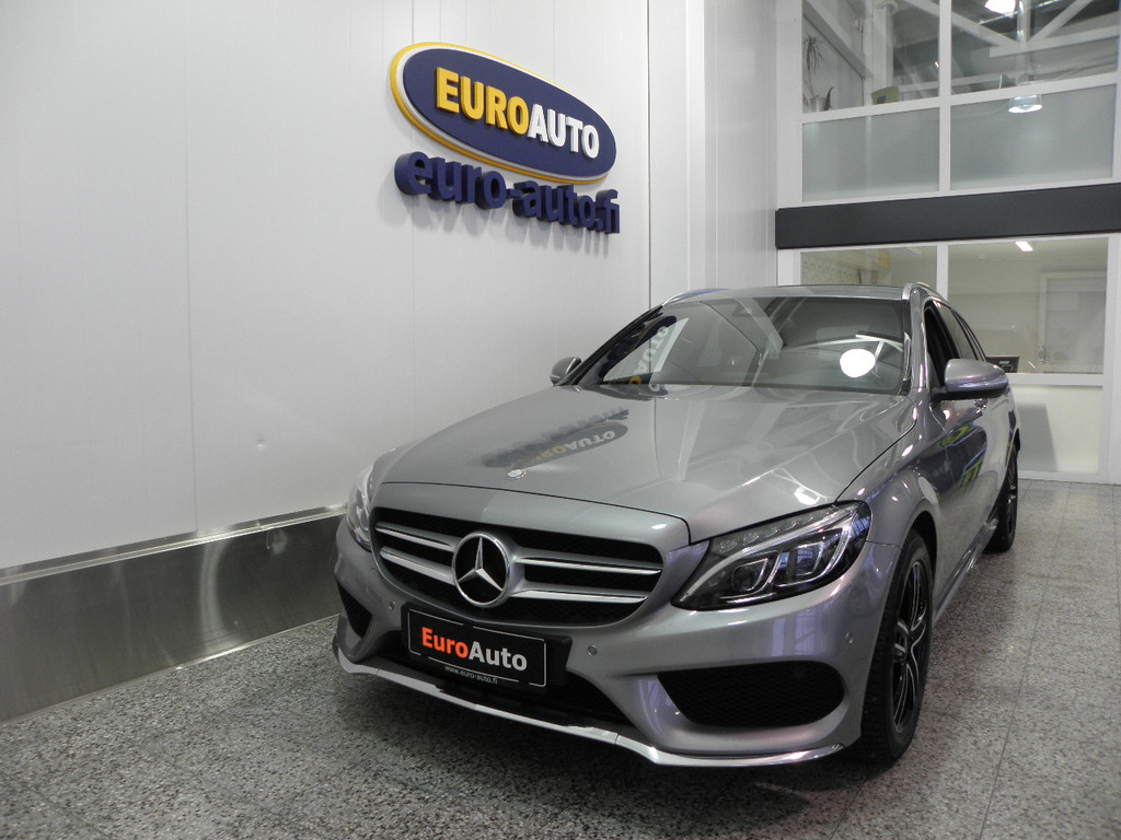 Mercedes-Benz C 220 d T A 170HV AMG Premium Edition,  SIS. ALV. NAHAT,  AMG SISÄ JA ULKO PAKETTI,  NAVI,  WEBASTO, BURMESTER ,  ILS,  USB