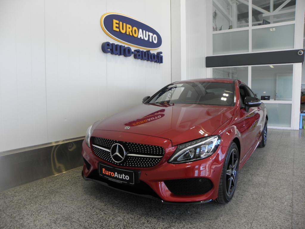 Mercedes-Benz C 300 Coupé Aut. AMG Styling SIS.ALV. KUIN UUSI! HIGH PERFORMANCE LED,  NAVI,  NIGHT PAKETTI,  HYASINTIN PUN. CRUISE,  USB