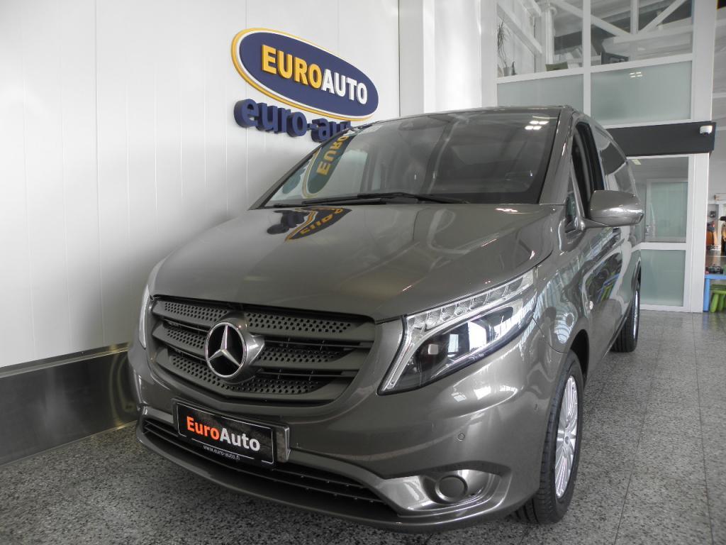 Mercedes-Benz Vito 119 BLUETEC keskipitkä A2 Aut. SIS.ALV.VÄHÄN AJETTU,  1+1 OHJAAMO,  ILS,  NAVI,  PERUUTUSKAMERA,  VETOKOUKKU,  CRUISE,  USB