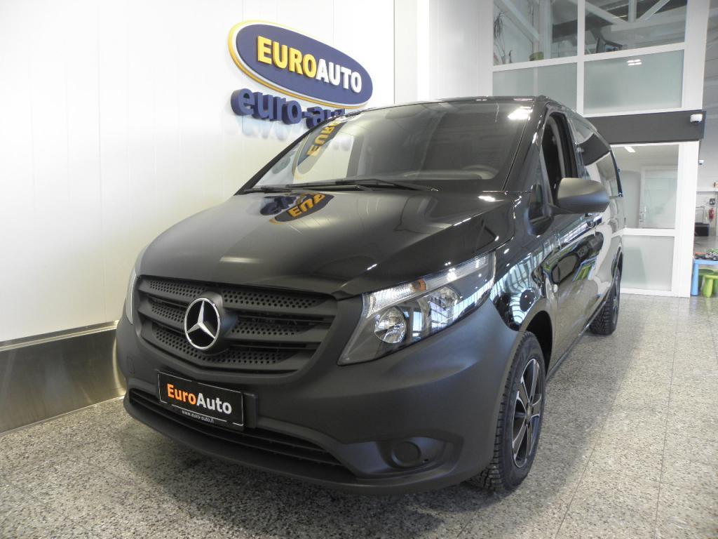 Mercedes-Benz Vito 116CDI 163hv keskipitkä A2 AUT. SIS.ALV. KOTIINKULJETUSPALVELU,  490e/KK,  WEBASTO,  VANEROINTI,  CRUISE,  AUX,  BLUETOOTH