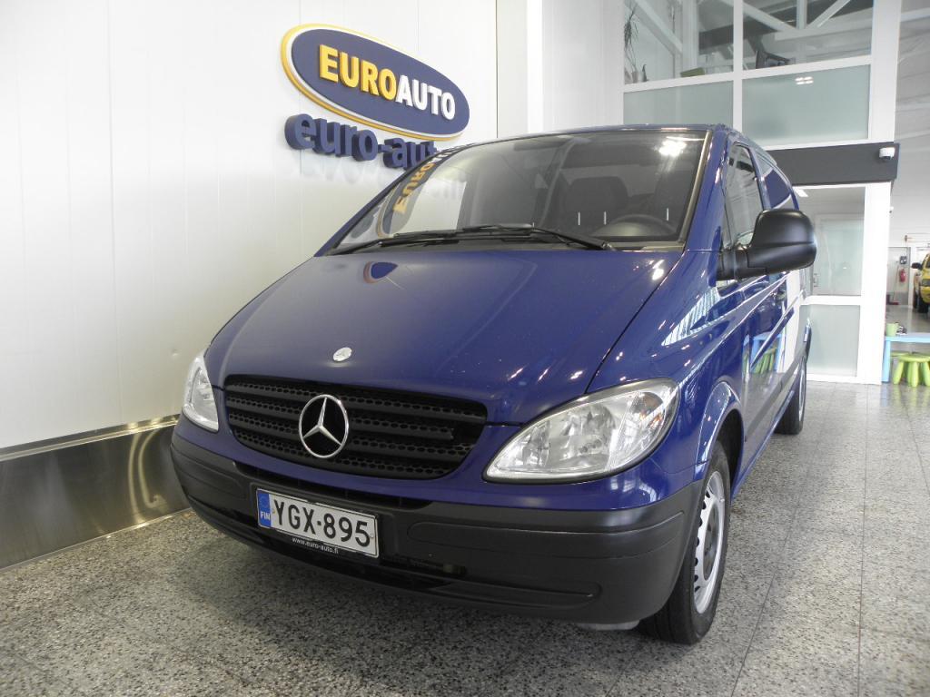 Mercedes-Benz Vito 115CDI normaali A1,  SUOMI AUTO,  SORTIMO HYLLY,  KAHDET RENKAAT,  VETOKOUKKU,  VANEROINTI,  HYV KATS AUT VÄH 1000
