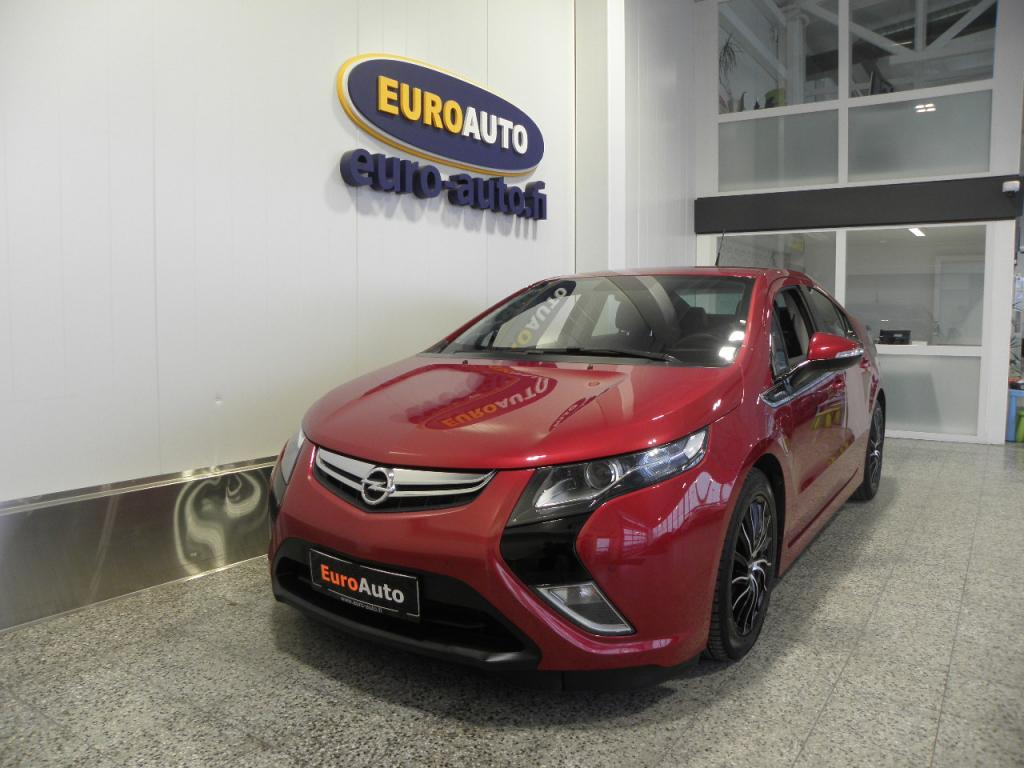 Opel Ampera 5-ov Pionier Edition 1, 4 E-REV 111kW AT,  HUIPPU VARUSTELTU,  HARVINAINEN CRYSTAL RED,  NAHAT,  NAVI,  BLUETOOTH,  CRUISE,  USB