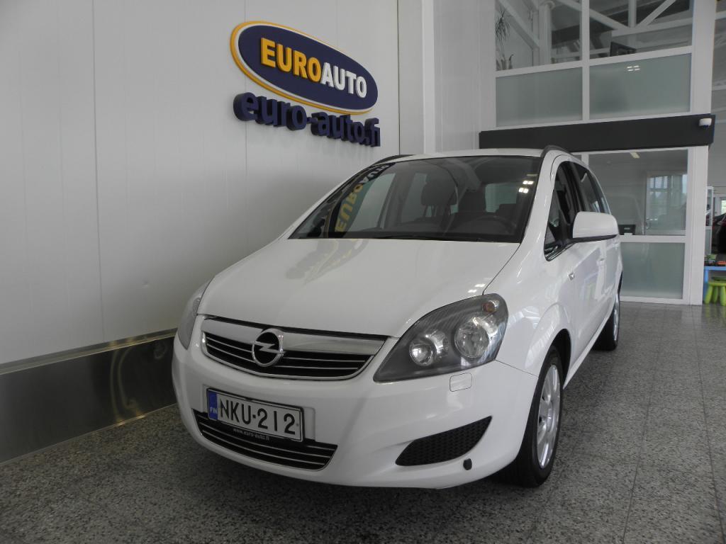 Opel Zafira 5-ov Enjoy 1, 6 CNG Turbo 110kW MT6,  7-hengen kaasu tila-auto, VAIN 125e/KK,  ILMASTOINTI,  KAHDET RENKAAT,  LOHKIS,  CRUISE