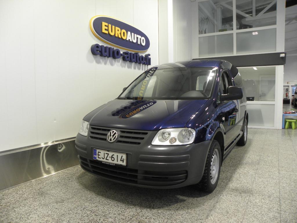 Volkswagen Caddy umpipakettiauto 1, 9 TDI 77 kW SIS.ALV. NÄPPÄRÄ PIKKUPAKU,  WEBASTO,  ILMASTOINTI,  VETOKOUKKU,  KAHDET RENKAAT
