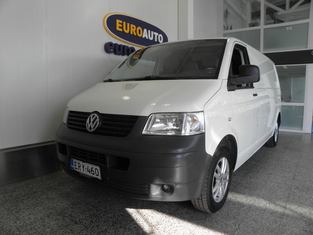 Volkswagen Transporter umpipak. pitkä 2, 5 TDI 96 kW SIS.ALV. TÄSTÄ LOISTAVA TYÖKALU,  WEBASTO,  CRUISE,  AC,  HUOLTOKIRJA,  HYV KATS AUT VÄH 1000