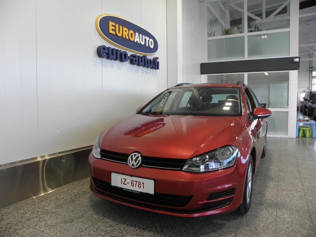 Volkswagen Golf Variant Comfortline 1, 6 TDI 81 kW (110 hv) 4MOTION,  UPEA PUNAINEN,  WEBASTO,  AKTIIVINEN CRUISE,  BLUETOOTH,  USB,  KOUKKU
