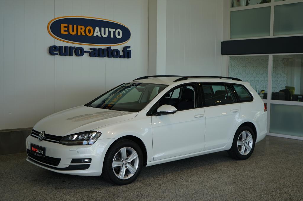 Volkswagen Golf Variant Comfortline 1, 6 TDI (115 hv) DSG-automaatti,  SIS.ALV. UPEA HELMIÄISVALKOINEN, VAIN 250e/kk,  NAVI,  BLUETOOTH