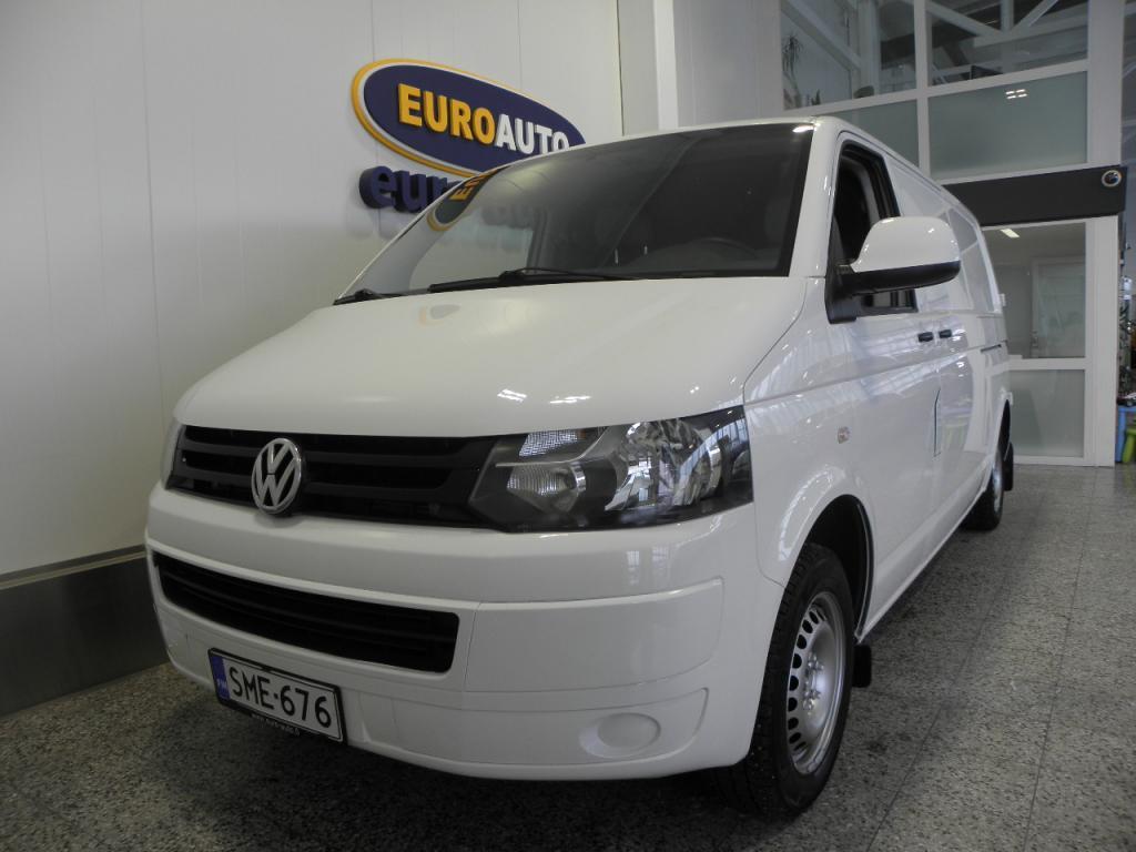 Volkswagen Transporter umpipakettiauto pitkä 2, 0 TDI 75 kW SIS.ALV. LÄPIJUOSTAVA,  TAVARATILAN PUHALLIN,  WEBASTO,  VETOKOUKKU,  ILMASTONTI,  AUX