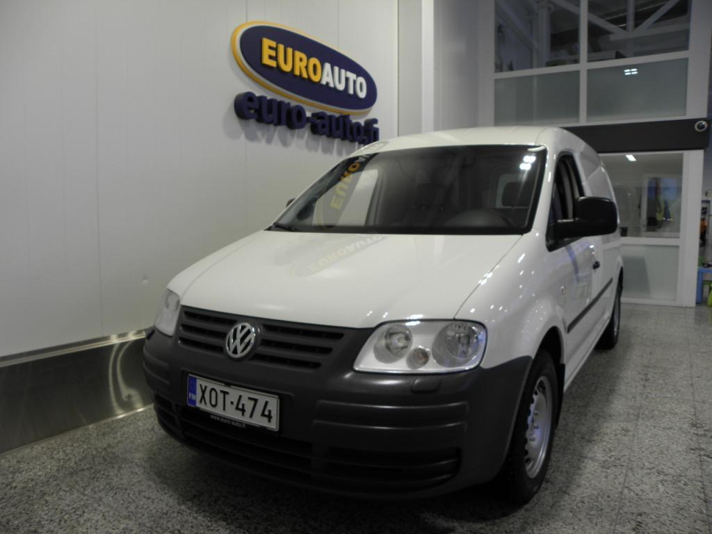 Volkswagen Caddy Maxi umpipakettiauto 1, 9 TDI 77 kW,  SIS.ALV. ILMASTOINTI,  LOHKIS,  VETOKOUKKU,  KAHDET RENKAAT,  SOITIN,  HYV KATS AUT VÄH 1000