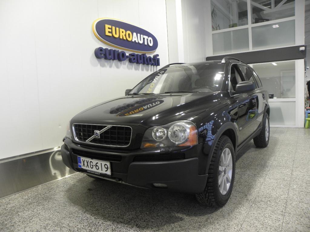 Volvo XC90 2, 5T AWD 7-P Kinetic Geartronic,  METALLI MUSTA SUOMI AUTO,  7-PAIKKAINEN,  ISOFIX,  KAHDET RENKAAT,  LOHKIS,  VAIN 199?/KK
