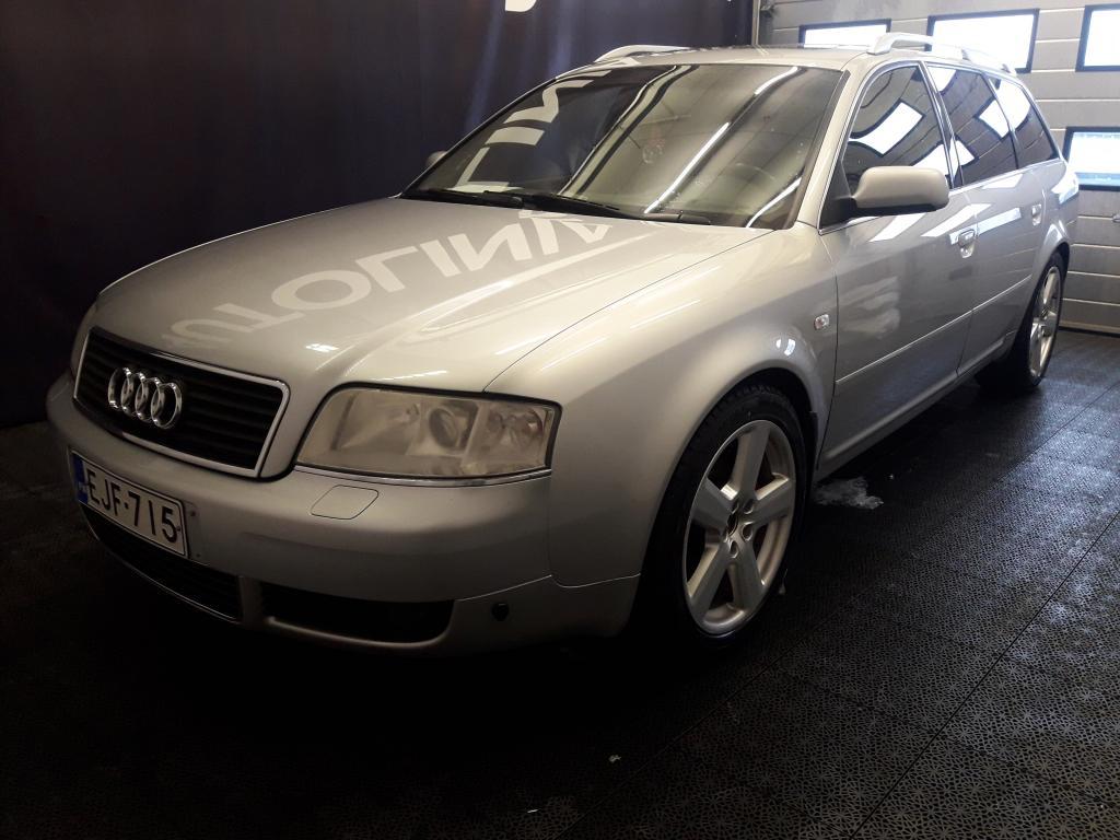Audi A6 2.5 TDI Quattro,  Recaro nahkasisusta,  Ilmastointi,  Kattoluukku,  Rahoitus jopa 0% käsirahalla alkaen 69, -euroa/kk!!