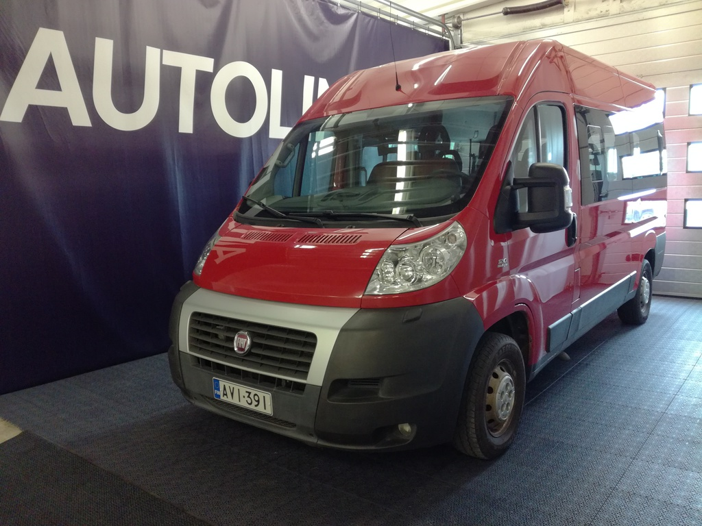 Fiat Ducato 2, 3 Multijet,  9-paikkainen,  Suomi-auto 1-omistajalta,  Webasto,  Ilmastointi,  Rahoitus jopa 0% käsirahalla!!