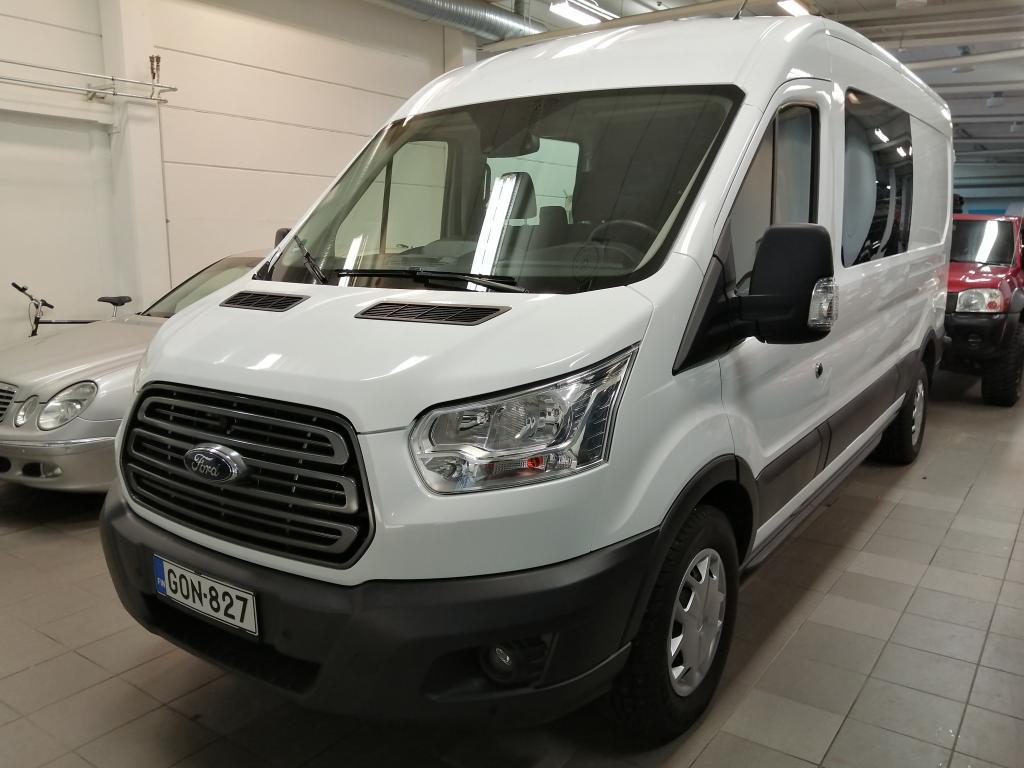 Ford Transit 2.0 TDCi,  3+3 -paikkainen retkeilyauto,  Tehdasasennettu peruutuskamera,  Vetokoukku,  Hinta sis. ALV!!