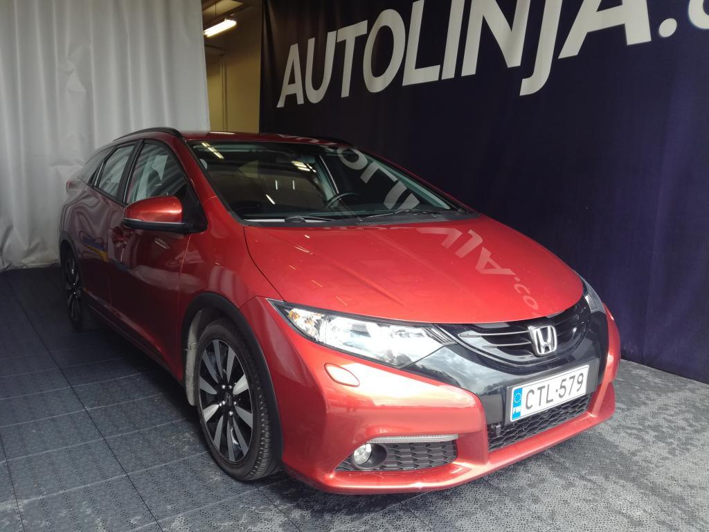 Honda Civic Tourer 1, 8i Sport,  Siisti Suomi-auto,  Rahoitus jopa ilman käsirahaa!!