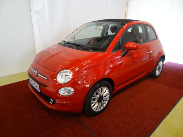 Fiat 500C 1, 2 69hv PopStar Start&Stop *Sähkötoiminen kangaskatto*