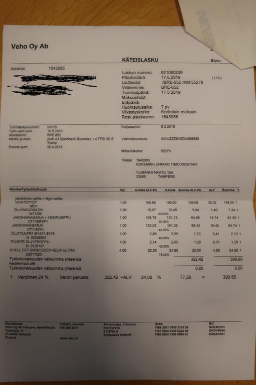 Audi A3, Sportback Business 1, 4 TFSI 90 kW S tronic