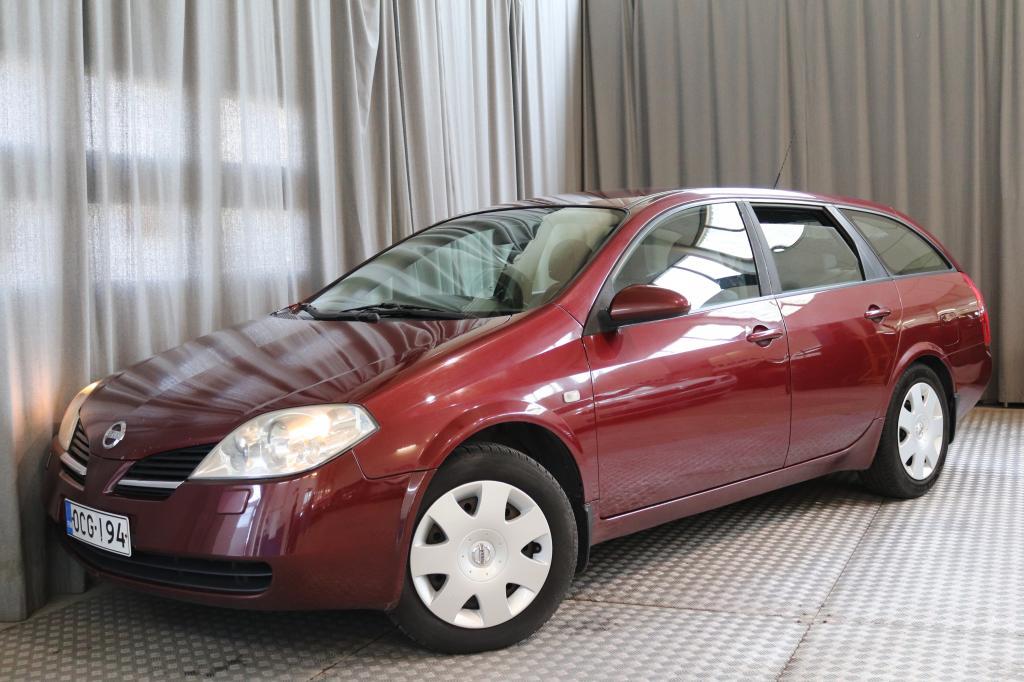 Nissan Primera 1, 8 Visia Traveller A/C 5-ov. SEURAAVA KATSASTUS 5/2020,  TOIMIVA ILMASTOINTI!