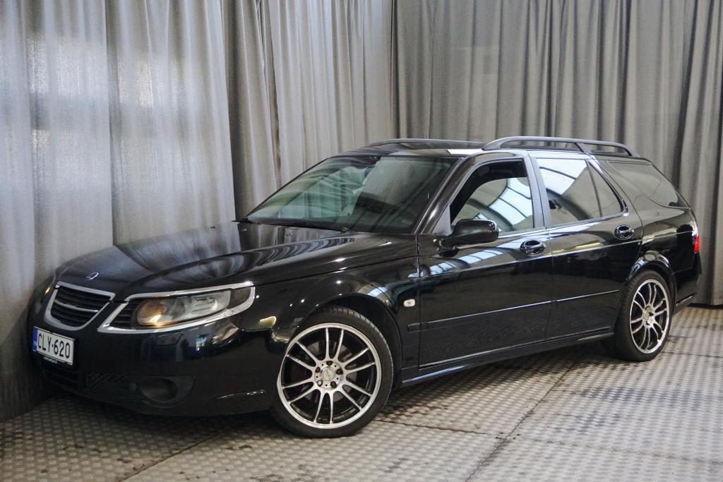 Saab 9-5 Wagon 2, 3t Linear Business A5,  TILAVA TURBO-AUTOMAATTI!